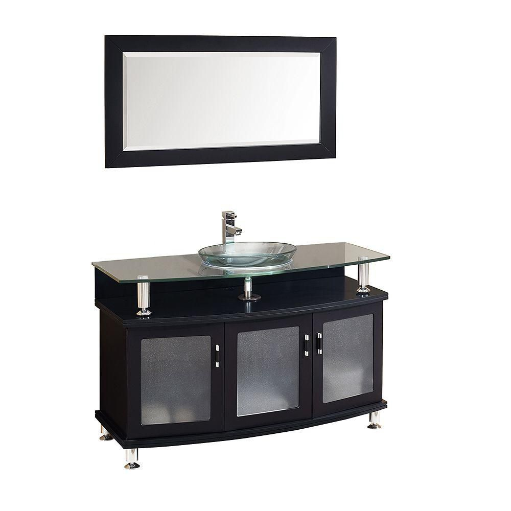 New  Modern Bathroom Vanity With Mirror  FVN3317ES  Home Depot Canada