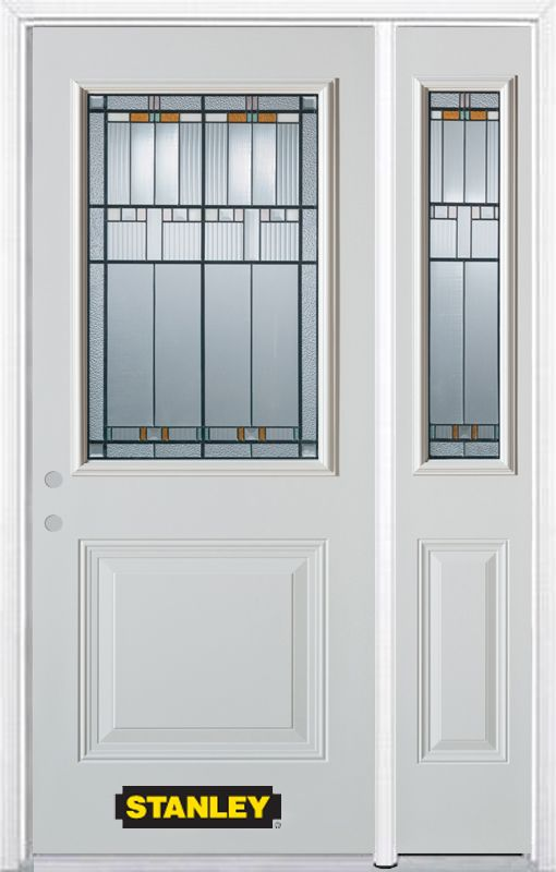 Stanley doors 48 in x 82 in 1 2 lite 1 panel pre for Stanley doors