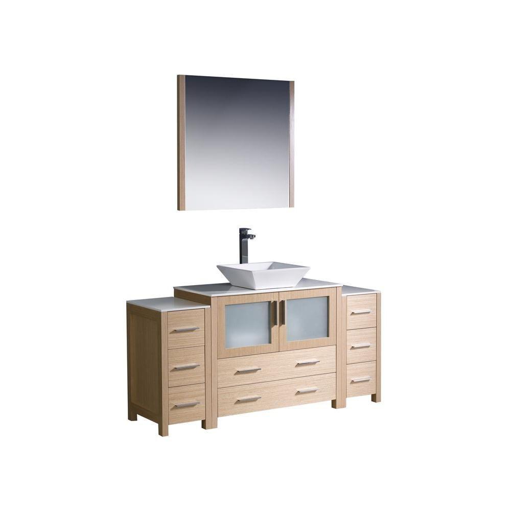 Fresca torino meuble lavabo de salle de bains moderne 60 for Home depot meuble salle de bain