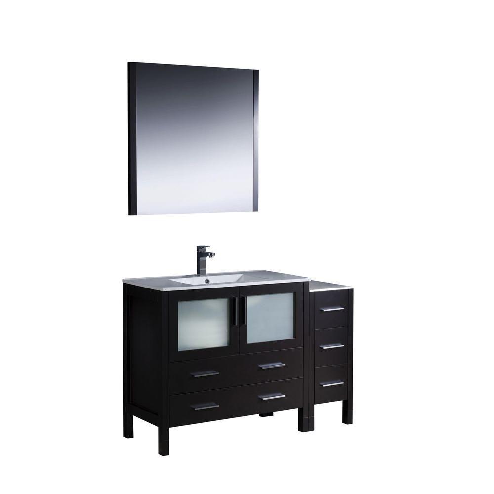 Fresca torino meuble lavabo de salle de bains moderne 48 for Home depot meuble salle de bain
