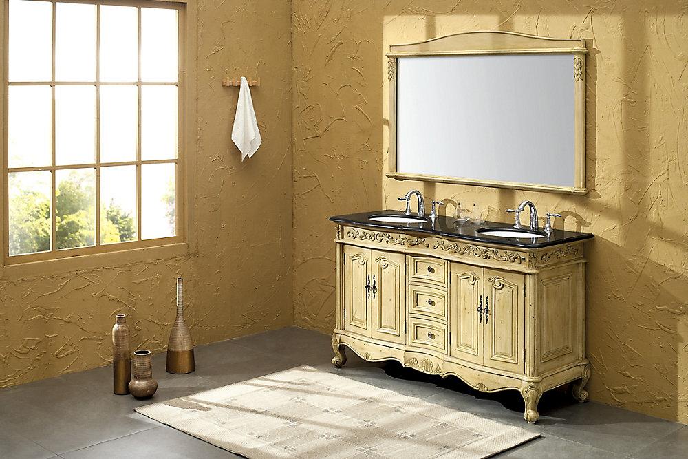 Fairbank traditionnel meuble lavabo de salle de bains - Double evier salle de bain ...