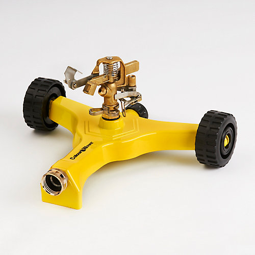 Wheel Base Pulsating Sprinkler in Yellow