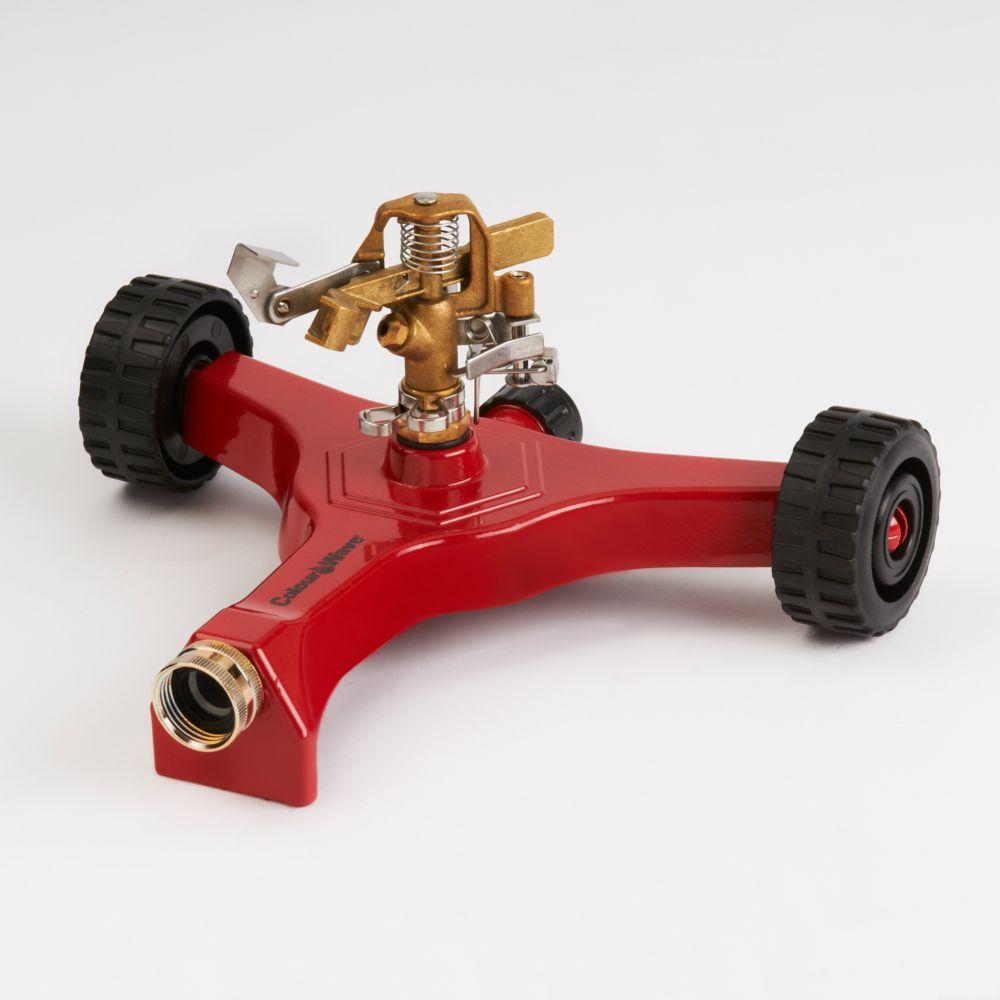 Wheel Base Pulsating Sprinkler (Red)