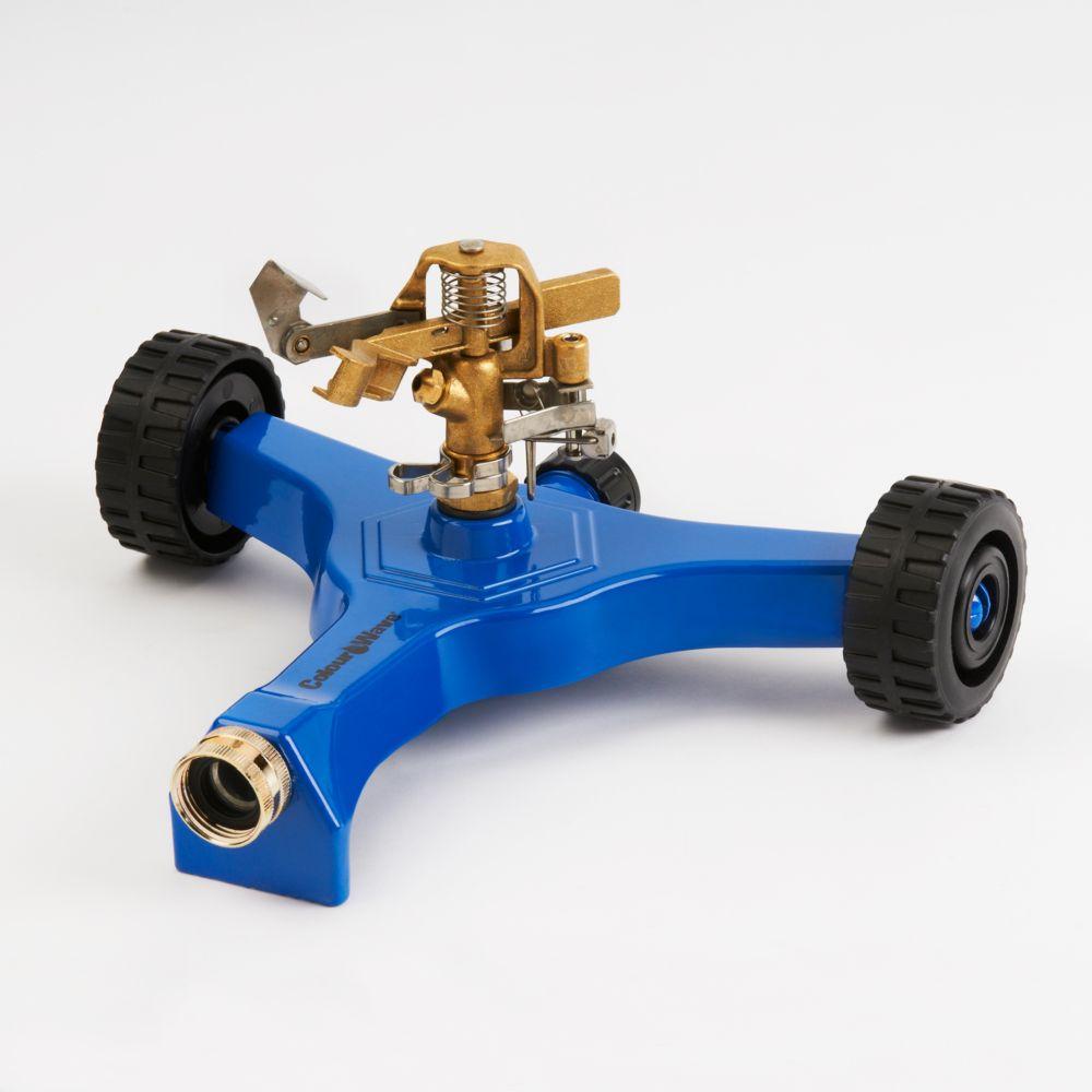 Colourwave Wheel Base Pulsating Sprinkler in Blue