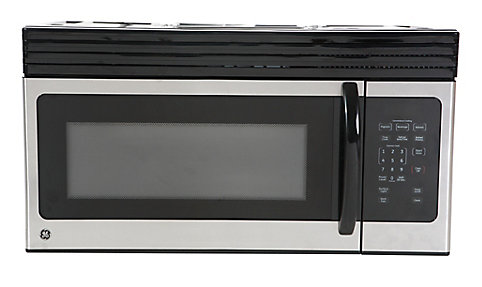 Over The Range Microwave Oven In Black On Stainless Steel Home Depot Canada