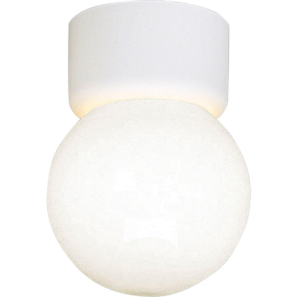 White 1-light Flushmount