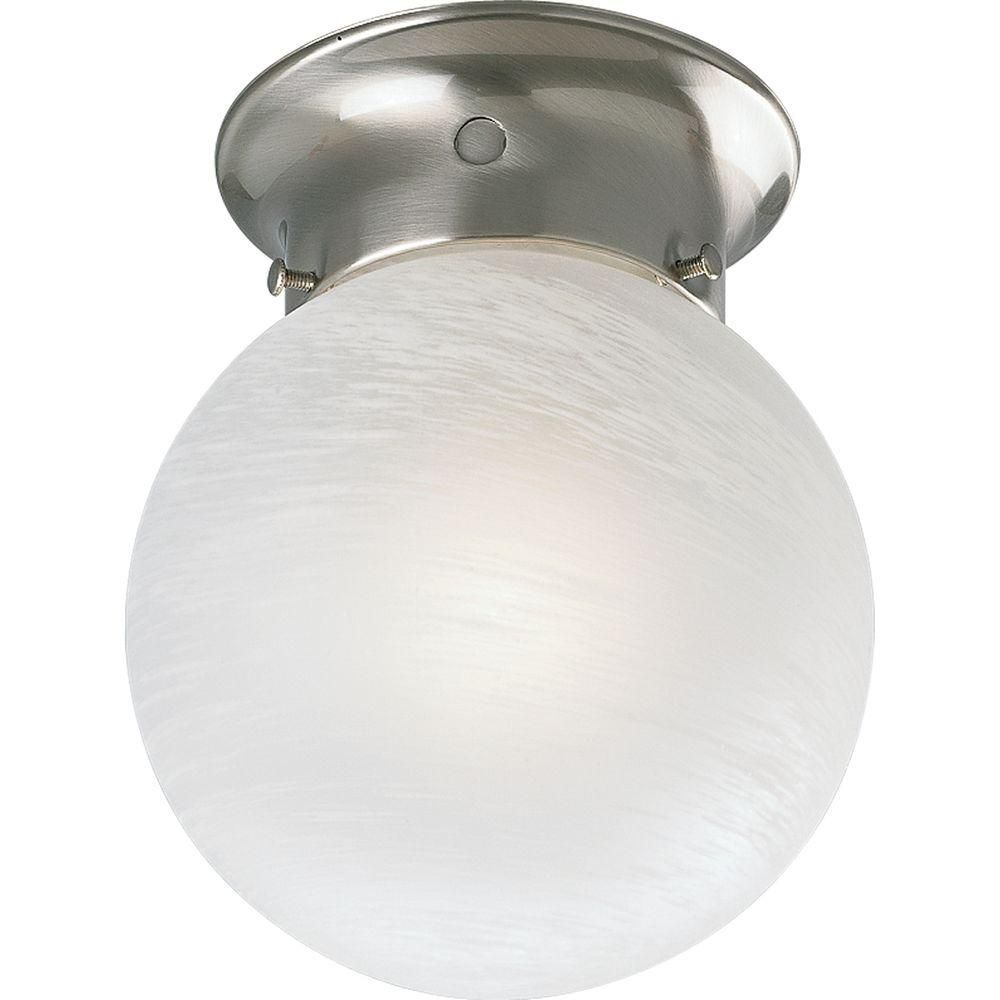 Brushed Nickel 1-light Flushmount