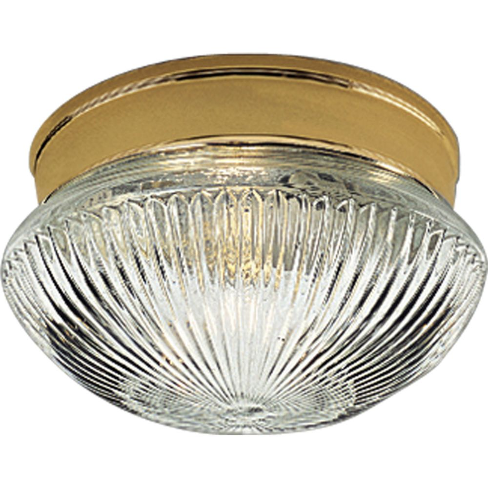 Polished Brass 1-light Flushmount