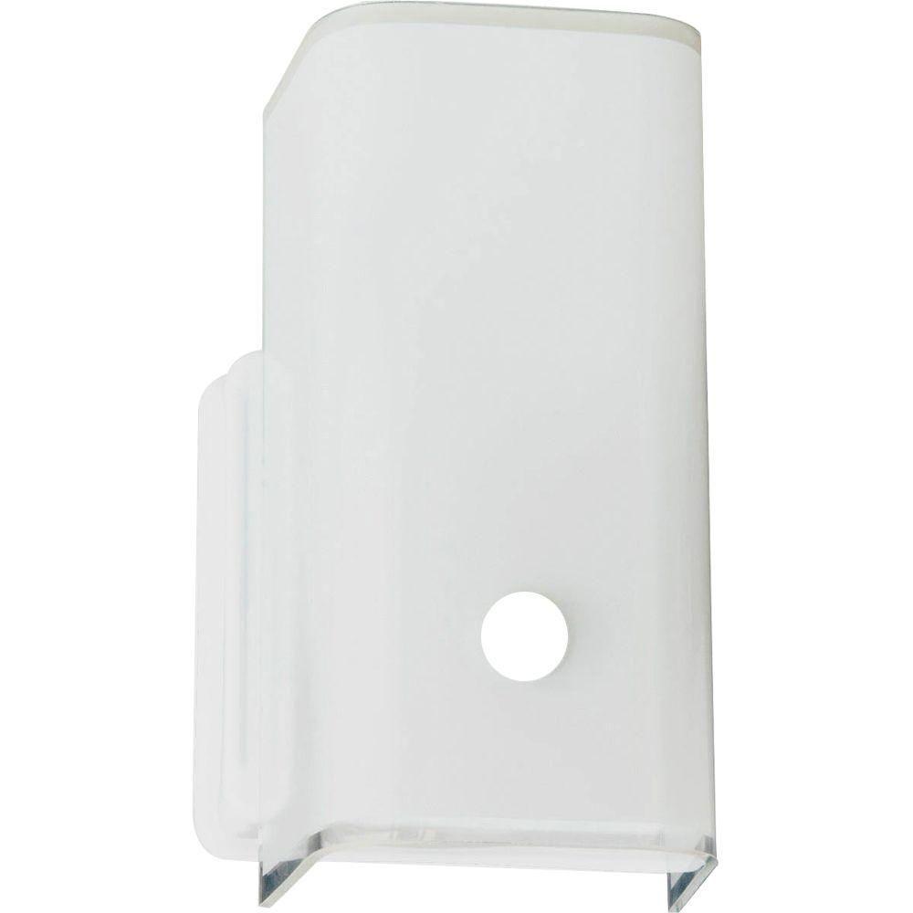 White 1-light Vanity Fixture