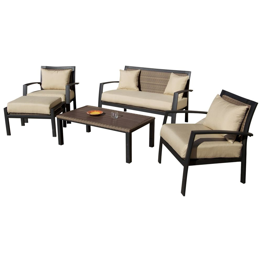 Lanai Breeze Love Seat Two Accent Chairs End Table And Coffee Table 5804 220 Canada Discount