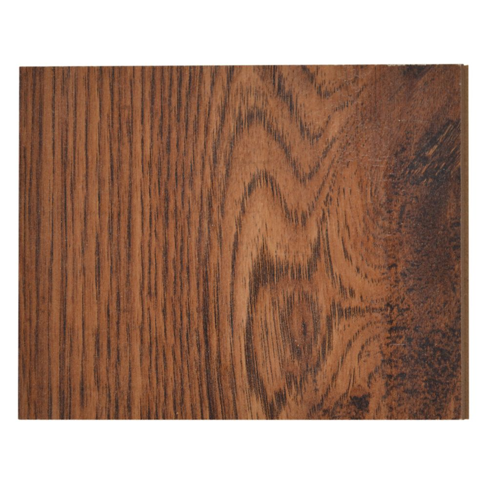 Amber Hickory 12 mm Thick x 4-inch x 4-inch Hardwood Flooring Sample