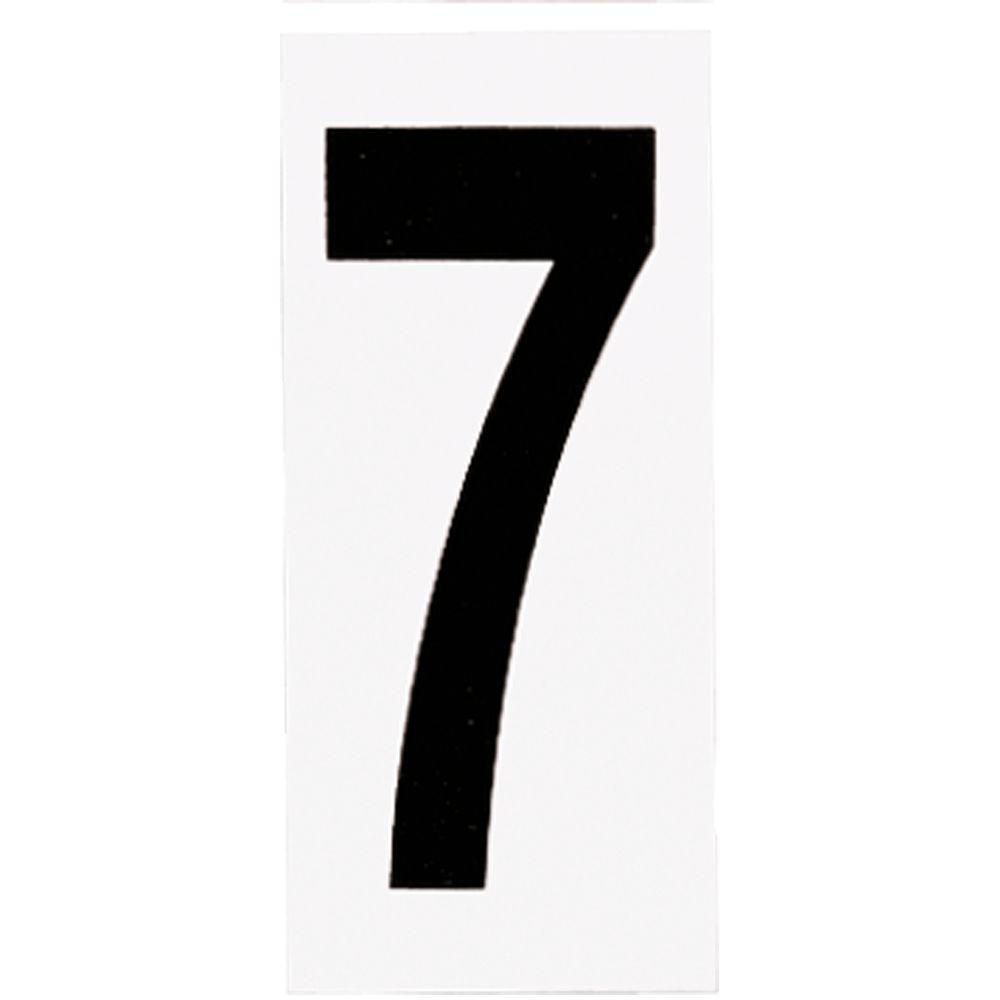 Plaque numérotée pour lampe de no. de porte, no. 7