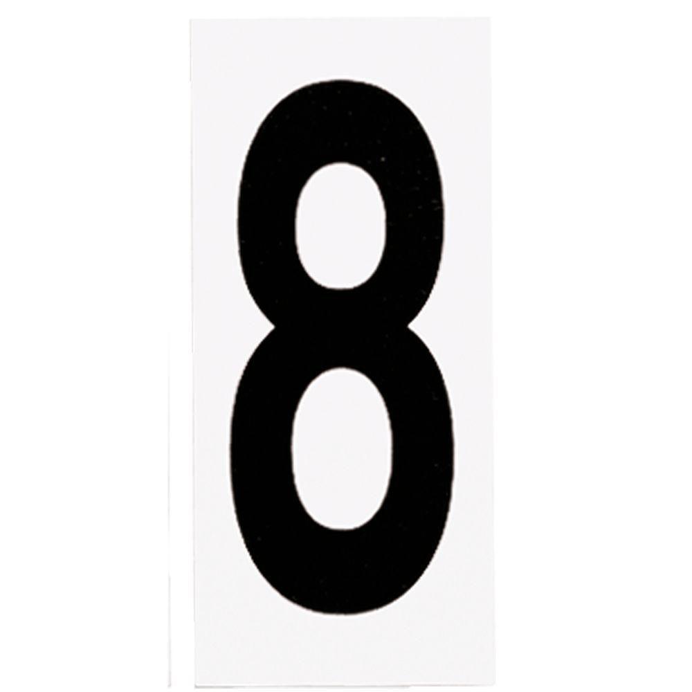 Address Light Number Tile, No. 8
