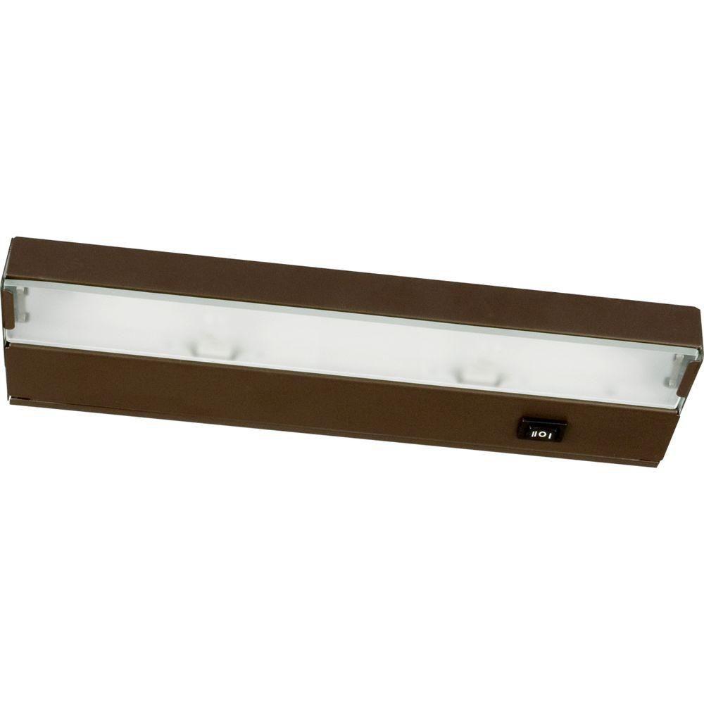 Hide-a-Lite III Antique Bronze 2-light Undercabinet Fixture