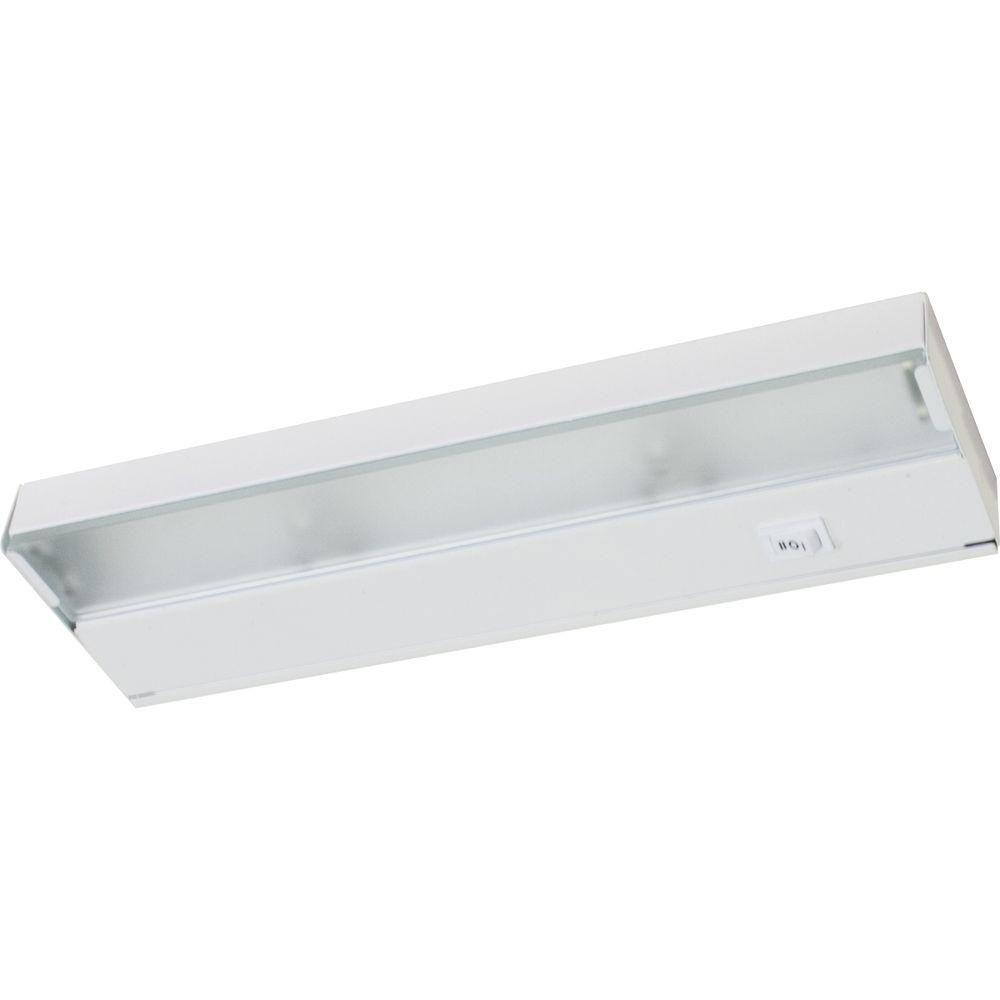 Luminaire pour travail à 2 Lumières, Collection Hide-a-Lite III - fini Blanc