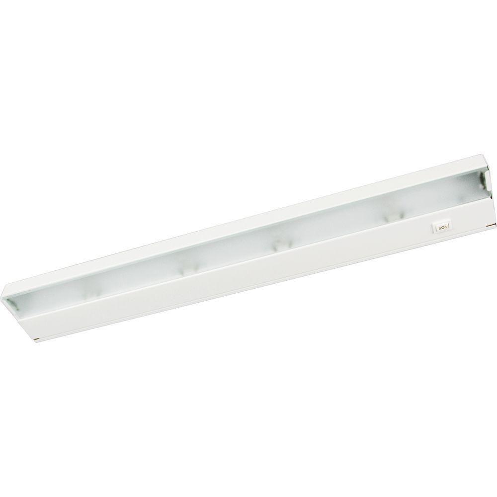 Luminaire pour travail à 4 Lumières, Collection Hide-a-Lite III - fini Blanc