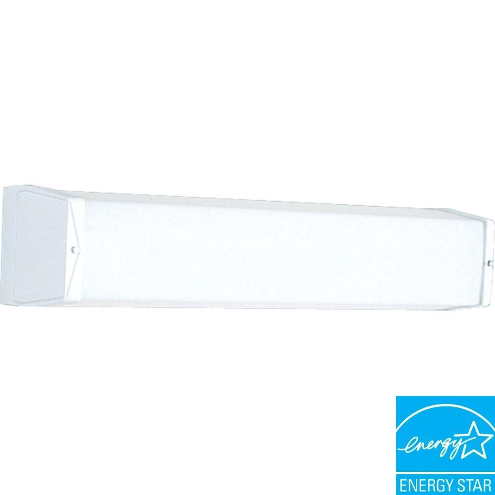 White 1-light Fluorescent Vanity Fixture