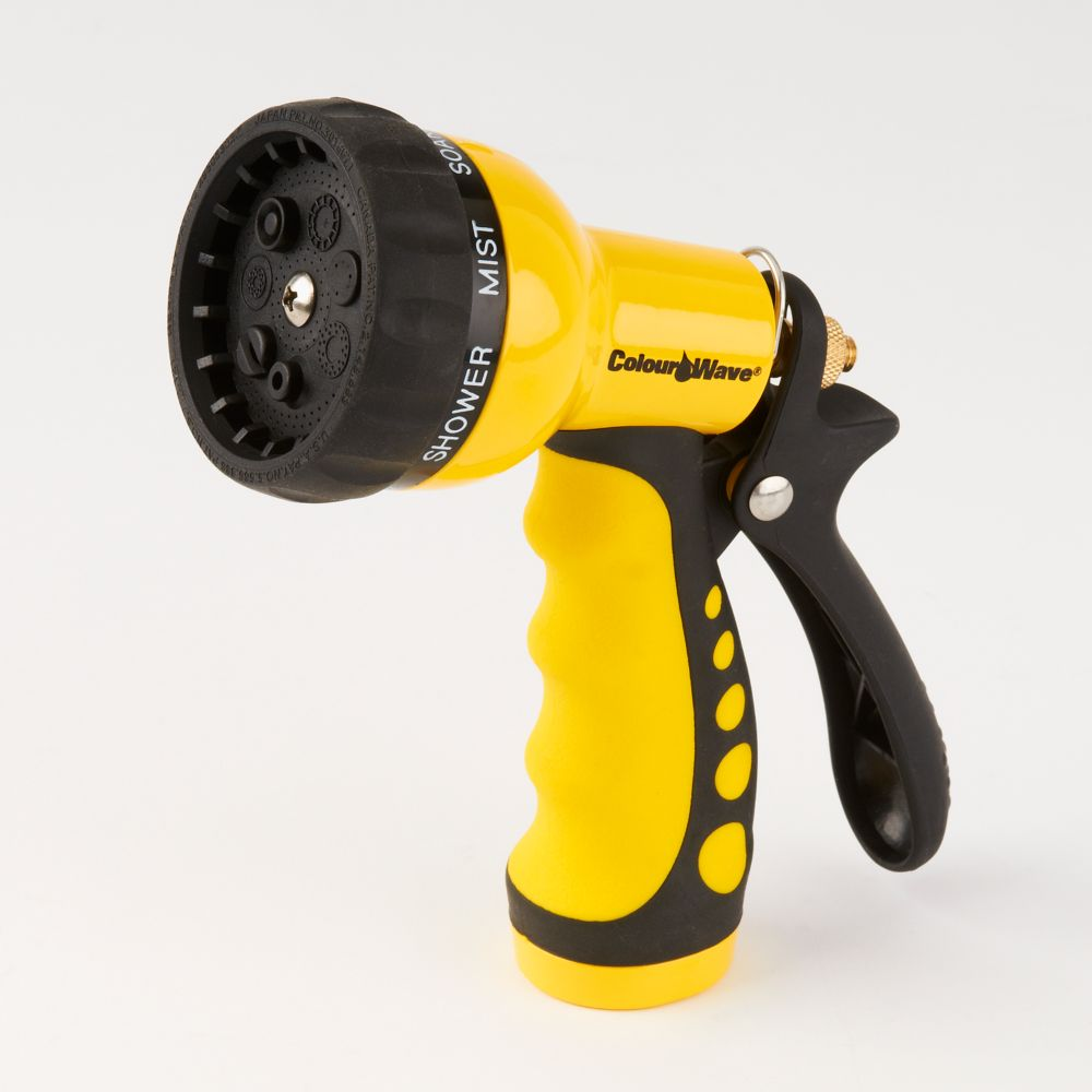 Colourwave 7-Pattern Nozzle in Yellow