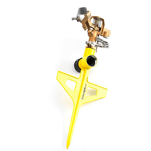 Pulsating Brass Sprinkler in Yellow