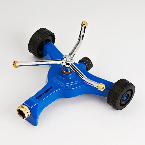 Wheeled Base Revolving Sprinkler in Blue