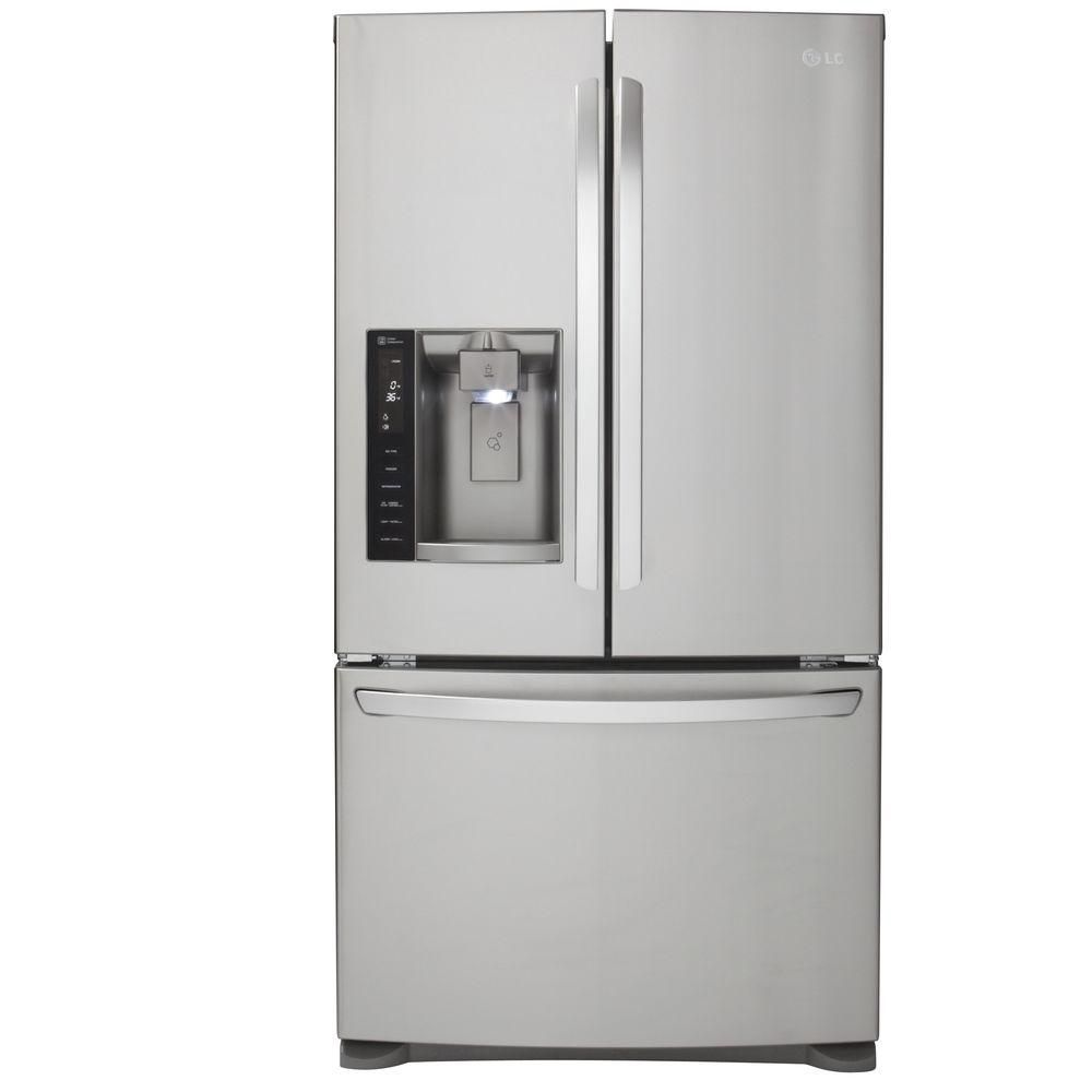 28 cu. ft. French Door Refrigerator with Slim SpacePlus Ice System in Stainless Steel