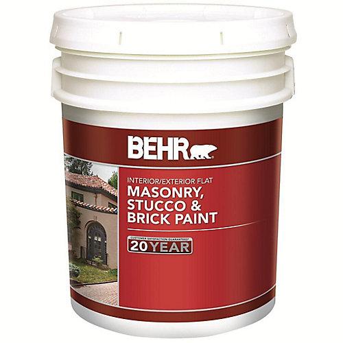Masonry, Stucco & Brick Paint Flat, Deep Base, No. 272, 17.1 L