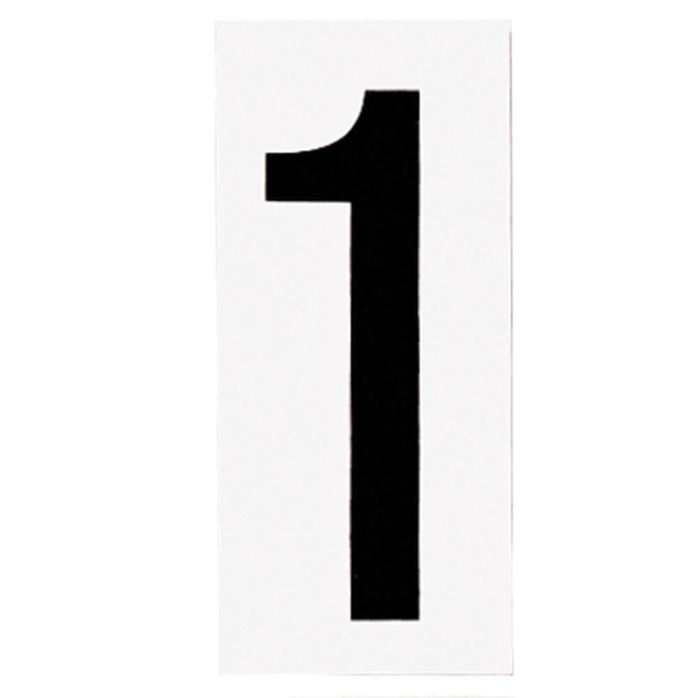 Plaque numérotée pour lampe de no. de porte, no. 1
