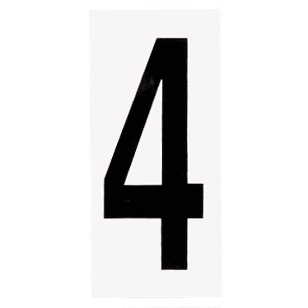 Plaque numérotée pour lampe de no. de porte, no. 4