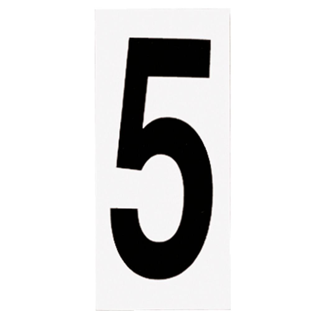 Plaque numérotée pour lampe de no. de porte, no. 5