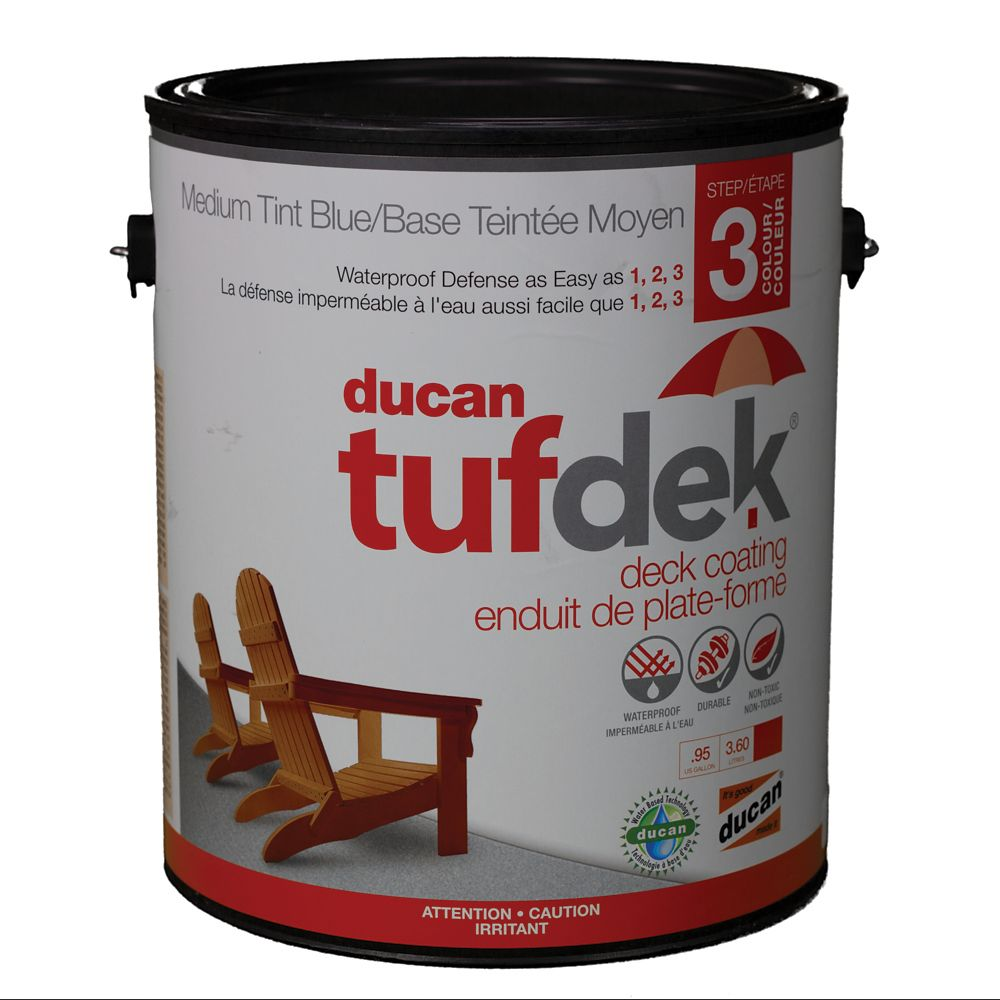 Tufdek Step 3.  The third step in the Tufdek System.  Provides the colour and the U.V. protection...
