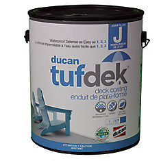 Tufdek Filler for the Tufdek System.  Used to fill plywood seams, screw holes and indentations and the transition from flashing to deck.