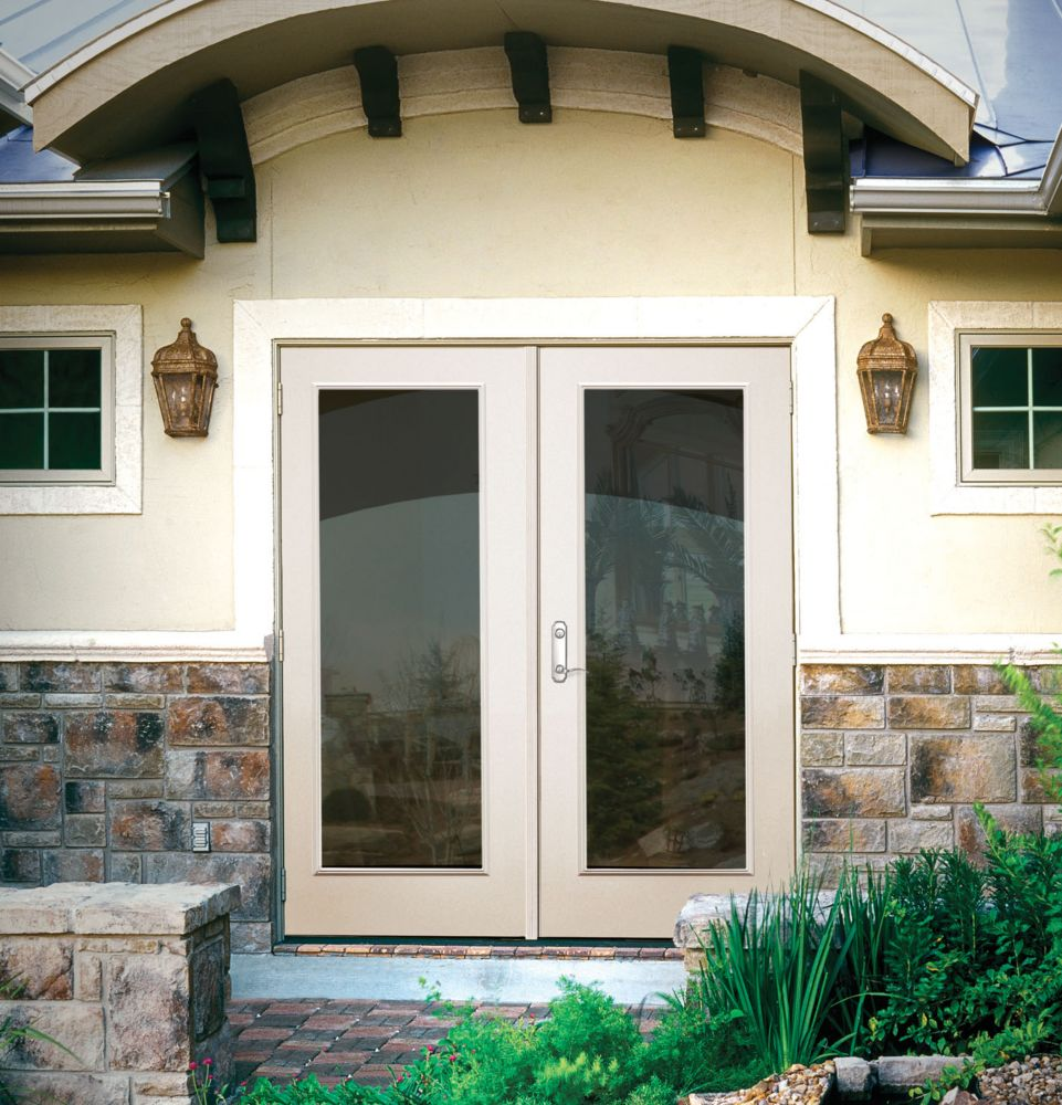 French outswing 5 ft 1 lite rh d00105 canada discount for Five foot french doors