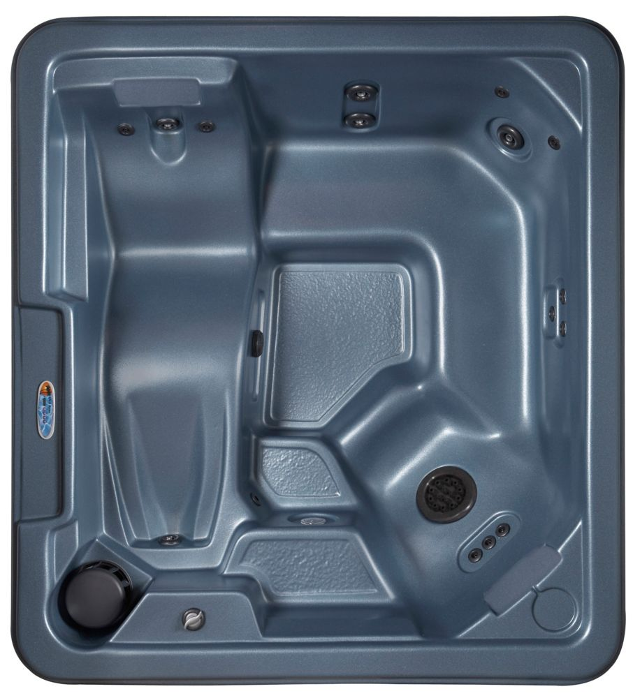 San Juan 30-Jet Plug and Play Spa with Polar Insulation in Blue Denim