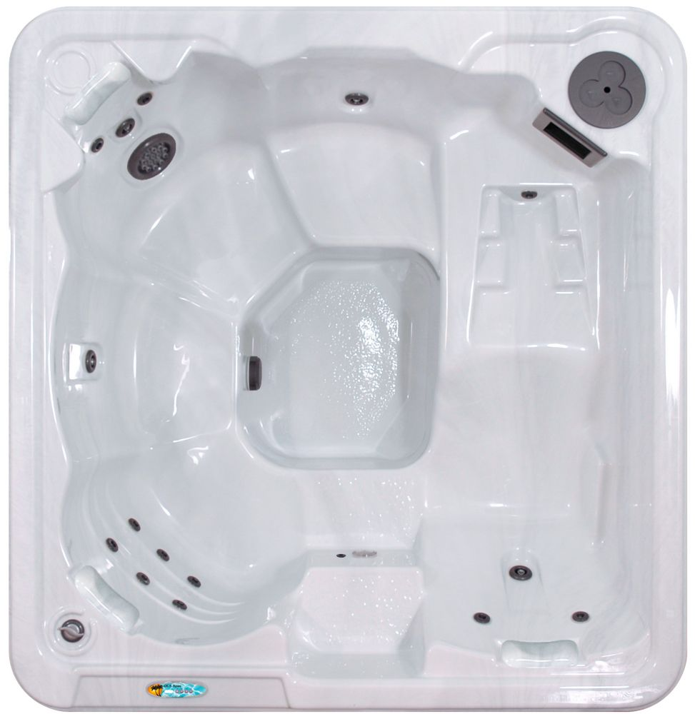Qca Spas Daytona 6-Person 30-Jet Spa with Ozonator and Polar Insulation in Silver Marble