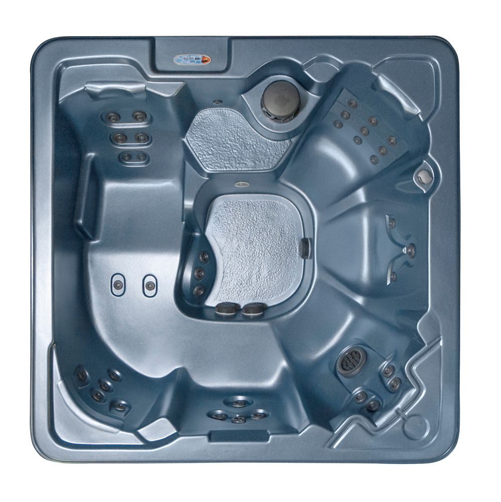 Pompano Beach 7 places 53-Jet Spa avec (2) 4,2 HP BT pompes FREE ENERGY SAVER paquet en Denim ble...