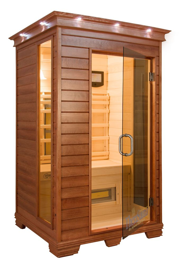 Infrared Sauna With Salt Wall In Nh Hotel Zandvoort The: TheraSauna 2-Person Infrared Sauna With MPS Control, Aspen
