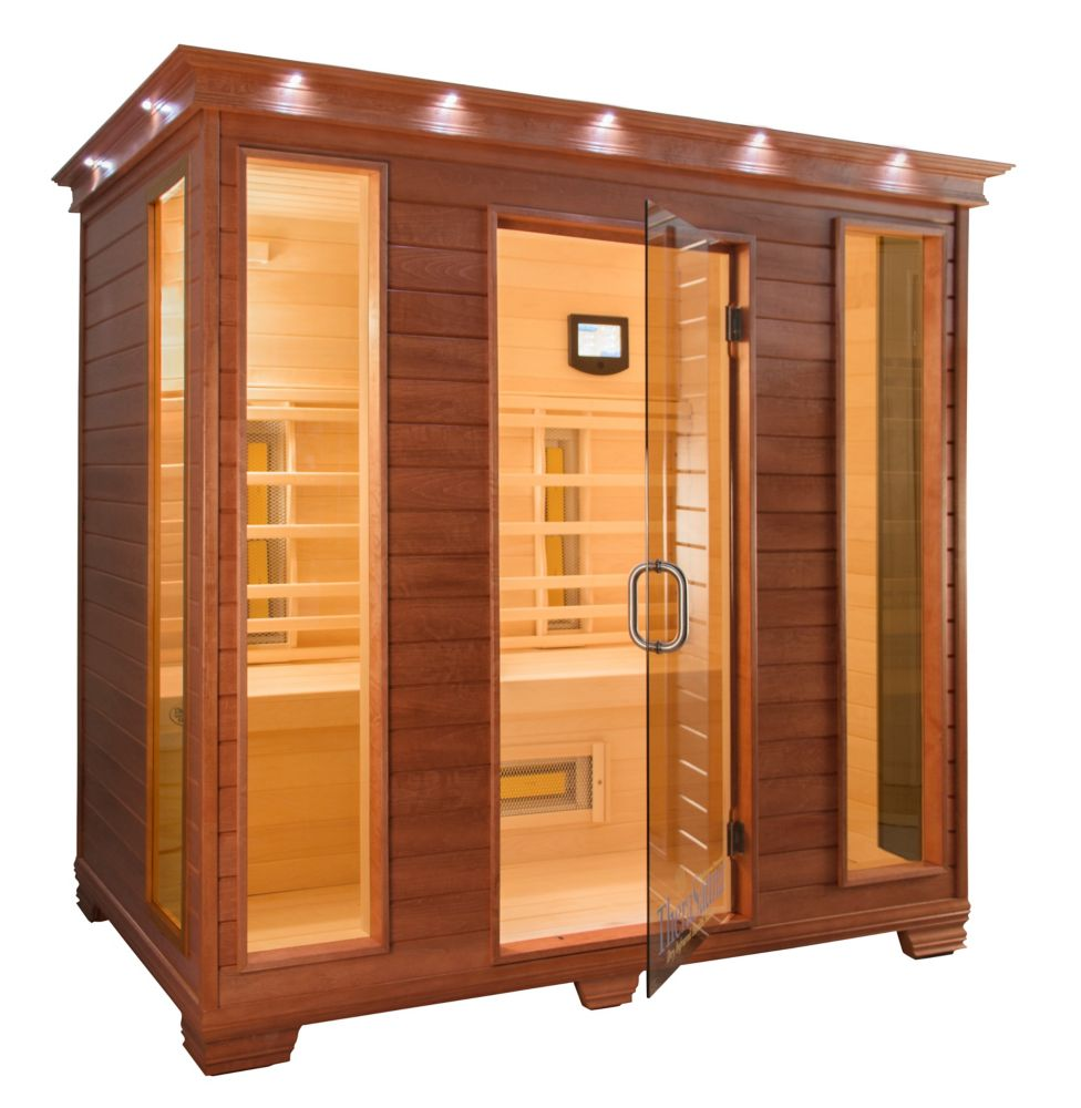 4-Person Infrared Sauna with MPS Control, Aspen Wood and 12 TheraMitter Heaters