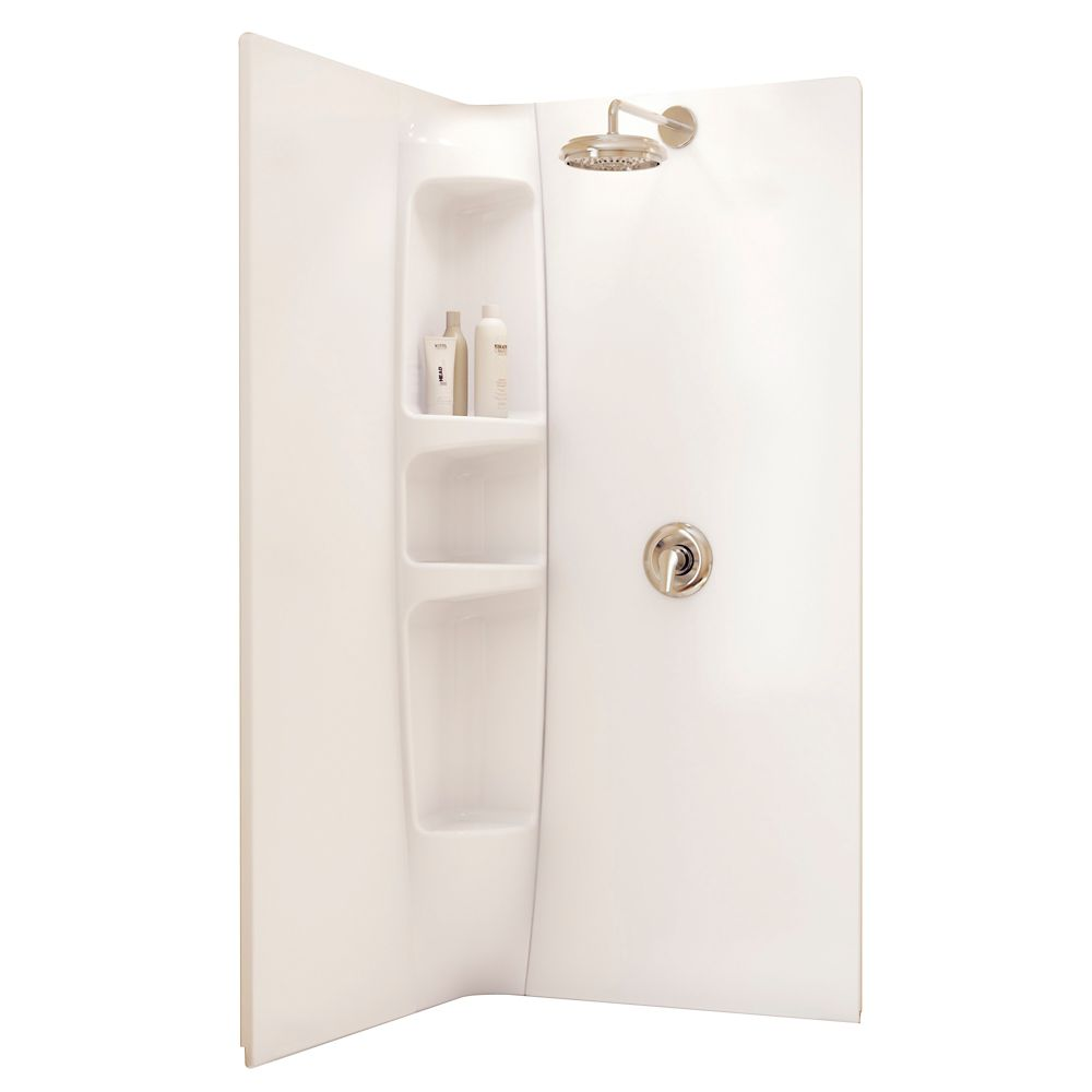 Olympia 2-Piece Shower Wall Kit in White