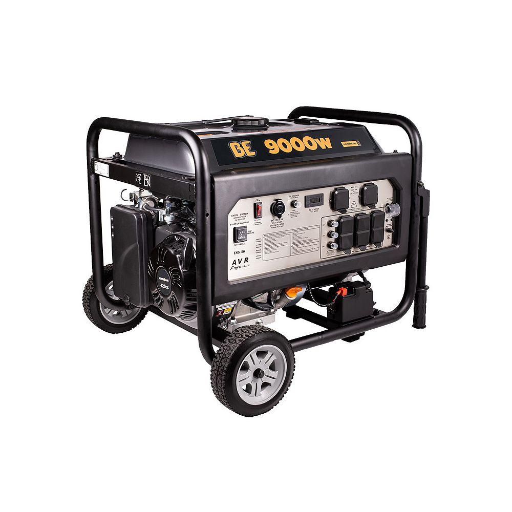 BE Power Equipment 9000W 15 HP Electric Start Generator