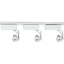 Progress Lighting Ensemble de rail à 3 Lumières, Collection Alpha Trak - fini Blanc