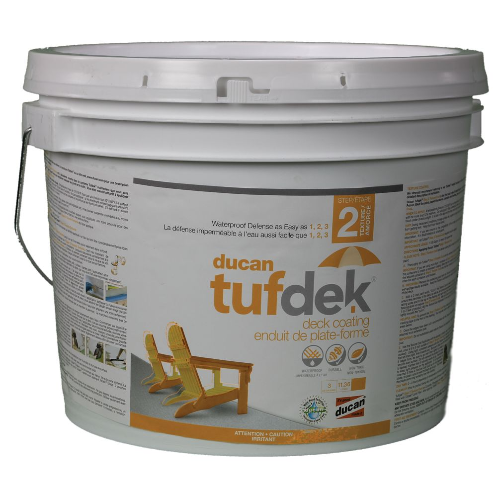 Tufdek Step 2.  The second step in the Tufdek System which provides a flexible rubber and non skid surface
