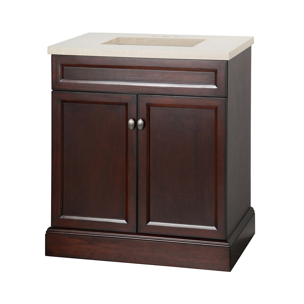 foremost international teagen 30 inch w vanity combo in espresso finish the home depot canada. Black Bedroom Furniture Sets. Home Design Ideas