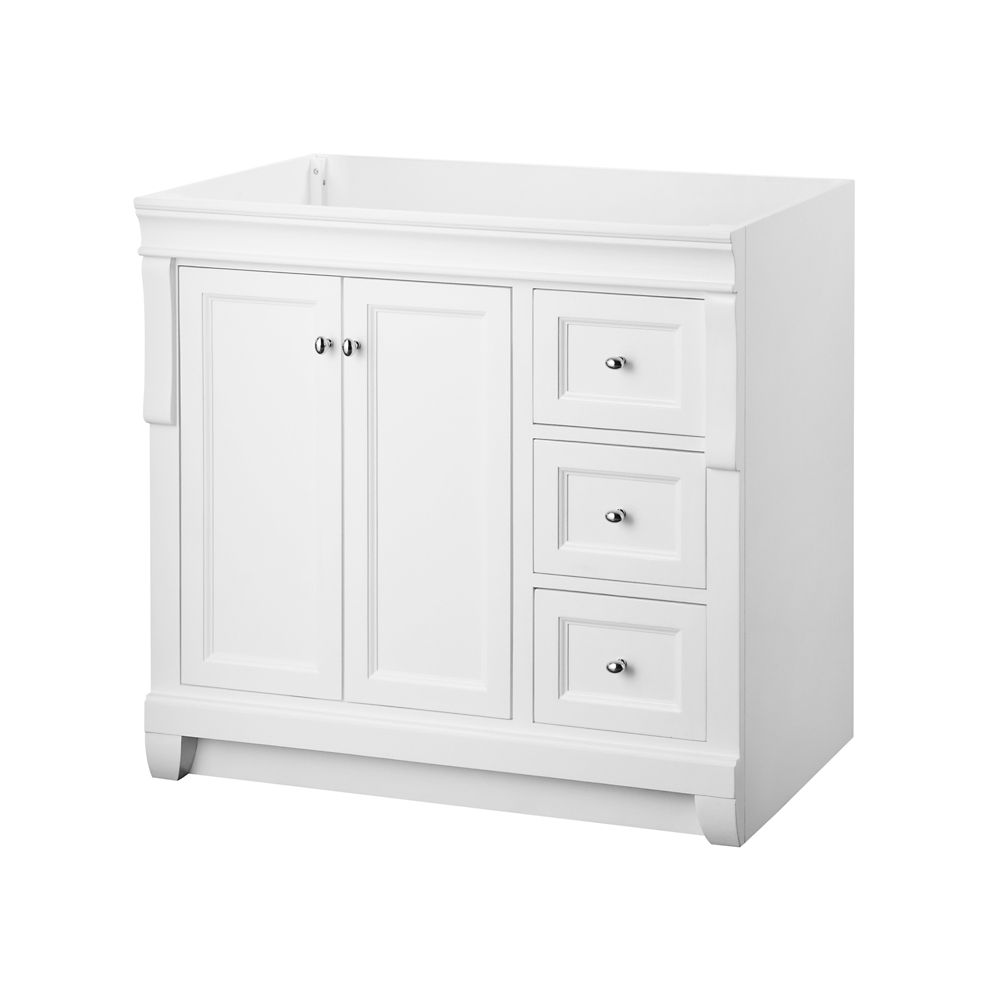 Naples 36-Inch  Vanity Cabinet in White
