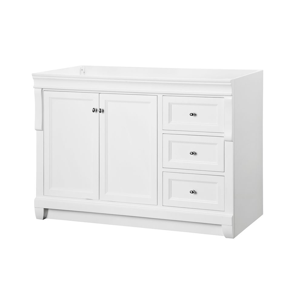 Foremost International Naples 48 Inch Vanity Cabinet In White The Home Depot Canada