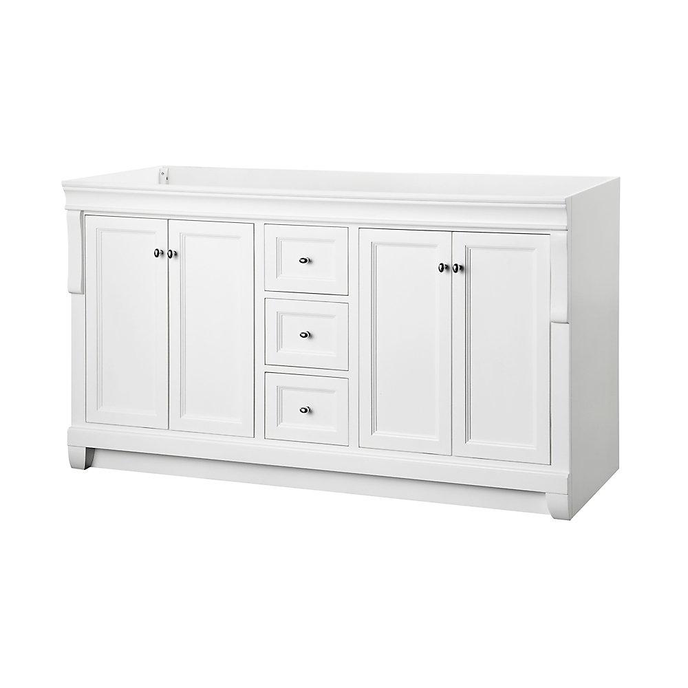 Naples 60 Inch Vanity Cabinet In White