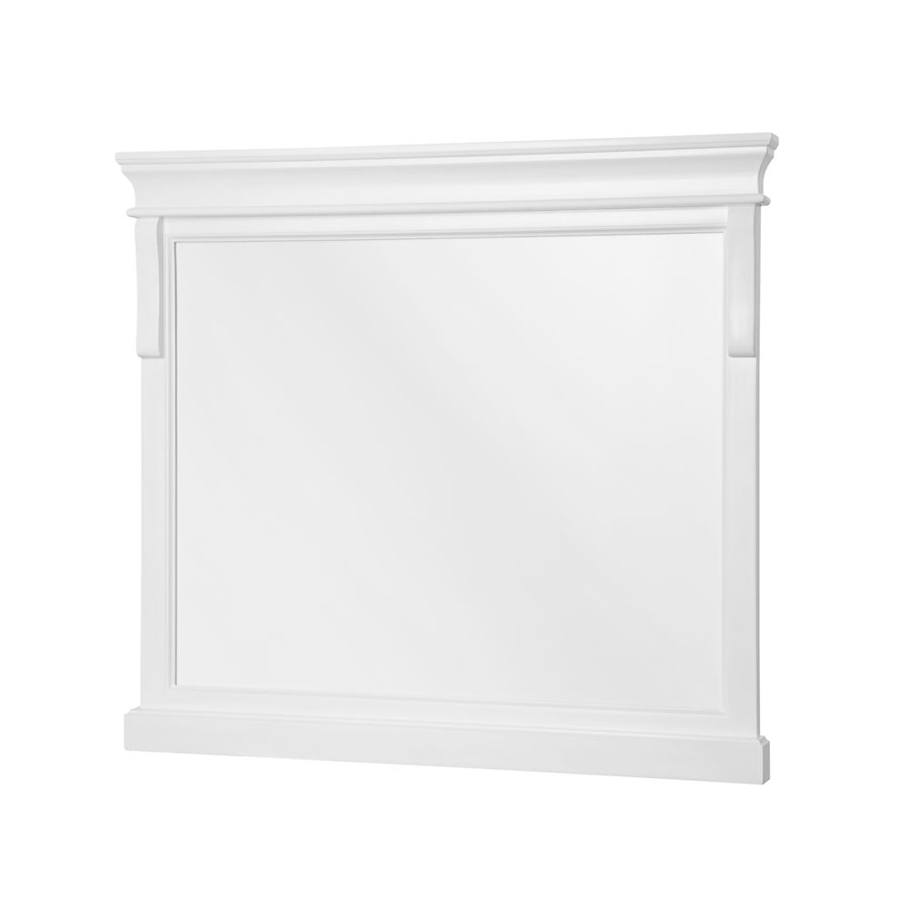 Foremost International Naples 36-inch x 32-inch Framed Wall Mirror in White