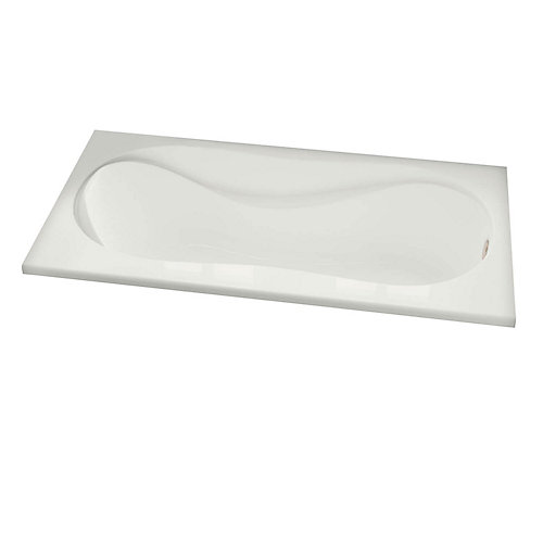 Velvet 5 Feet Acrylic Corner Drop-in Bathtub in White