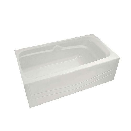 MAAX Avenue 60-inch Alcove Bathtub in White with Left-Hand Drain