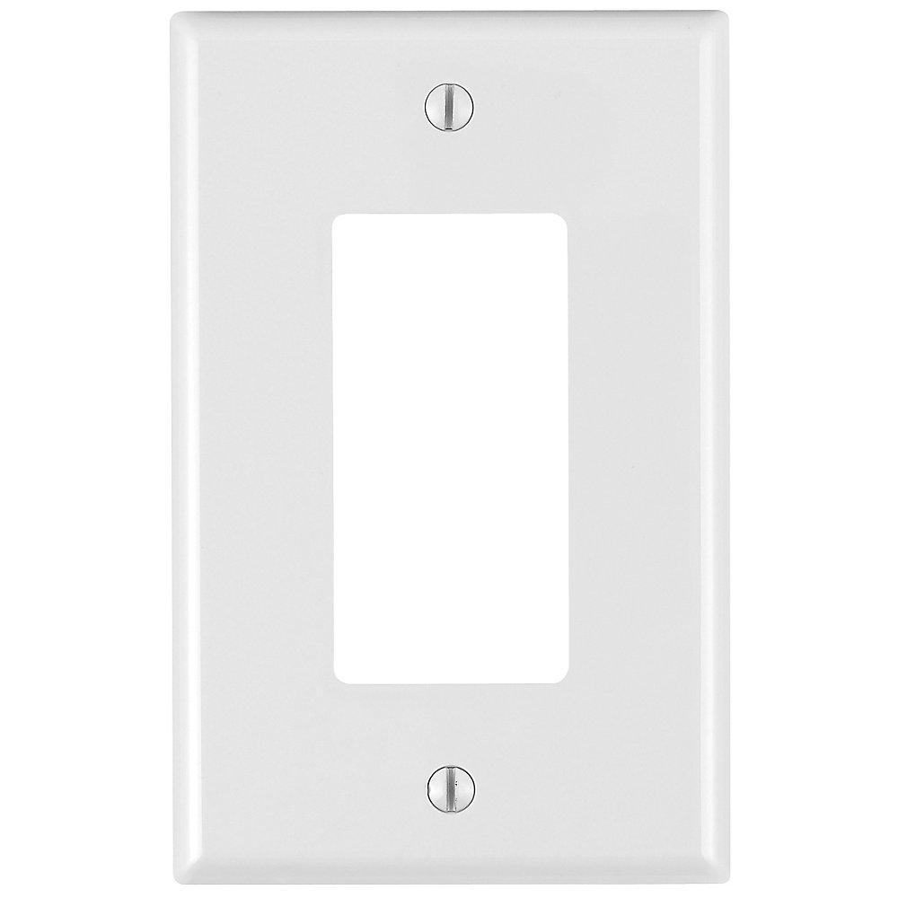 1-Gang Midway Nylon wall plate, in White