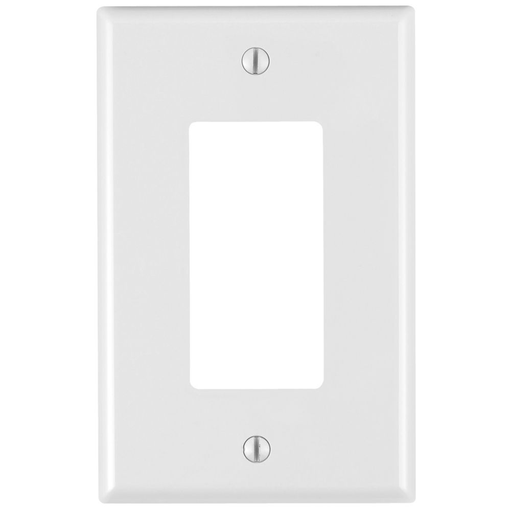 Decora 1-Gang Midway Nylon wall plate, in White